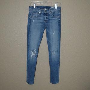 26 Rag & Bone Destroyed Capri Gunner Skinny Jeans